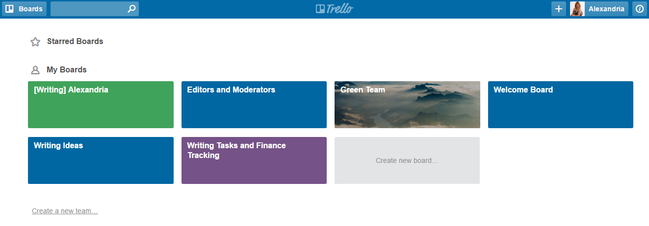 Using Trello for Writing