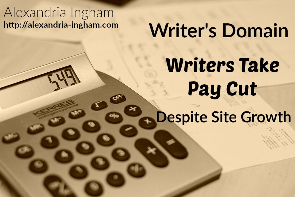 writer's domain writers take pay cut