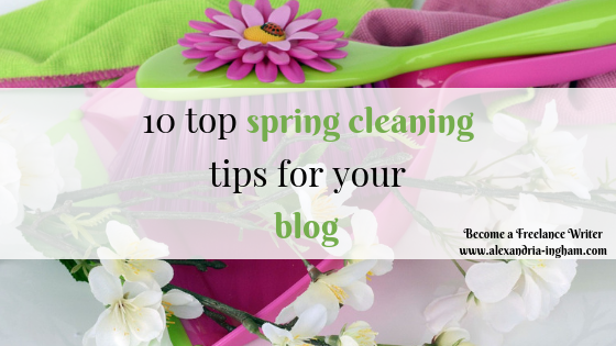 10 tips to spring clean your blog
